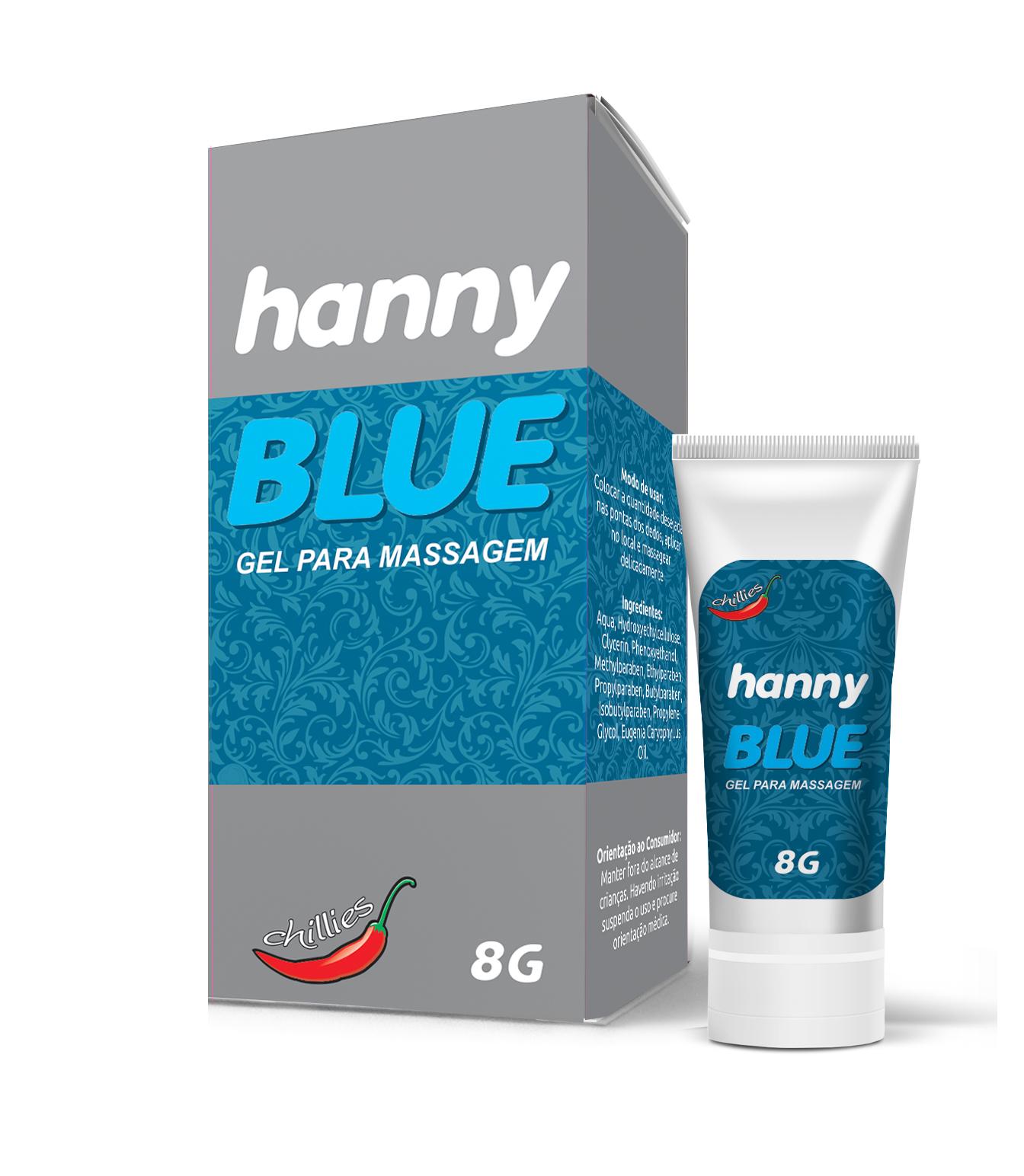 Gel para Sexo Anal Hanny Blue 8g- C60